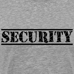 Security Lines Design T-shirts - Herre premium T-shirt