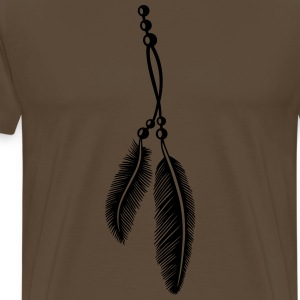 Federn, Indianer, Kette, feathers, Native American T-Shirts - Männer Premium T-Shirt