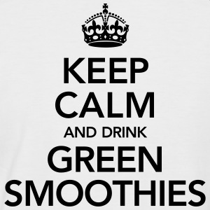 Keep Calm And Drink Green Smoothies T-shirts - Mannen baseballshirt korte mouw