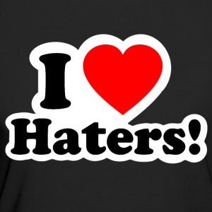 I LOVE HATERS - Frauen Bio-T-Shirt