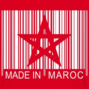 Code barre Made in MAROC 1c T-Shirts - Männer T-Shirt