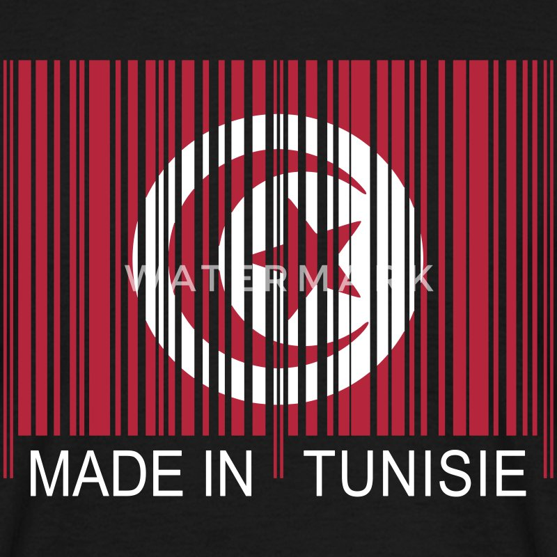 Code barre Made in TUNISIE Tee shirts - T-shirt Homme