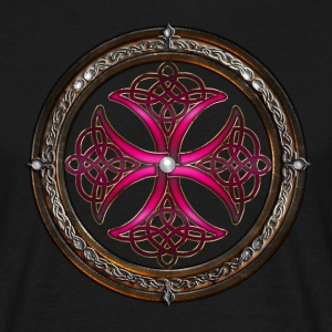 Fabulous Pink Celtic Cross.png Tee shirts - T-shirt Homme