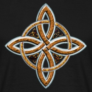 Wood Celtic Cross 4 points.png Tee shirts - T-shirt Homme