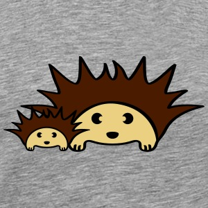 Hedgehog Mother T-Shirts - Men's Premium T-Shirt