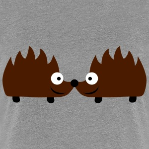 Hedgehog Couple T-Shirts - Frauen Premium T-Shirt