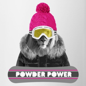 Lion Winter Sports Flaskor & muggar - Tvåfärgad mugg
