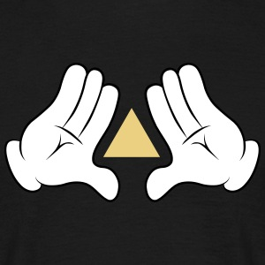 Comic Hands Triangle T-Shirts - Männer T-Shirt