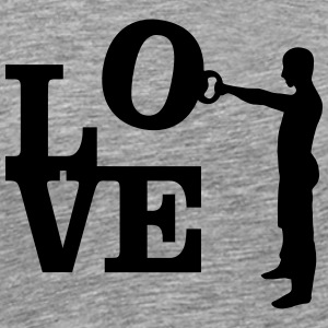Kettlebell Swing Love T-Shirts - Men's Premium T-Shirt