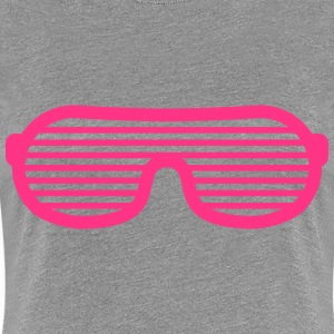 Party Glasses T-shirts - Dame premium T-shirt