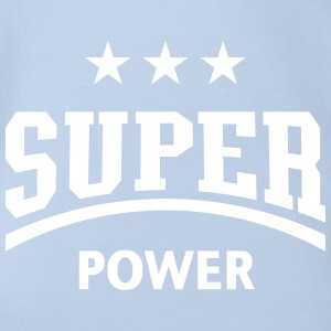 Super Power (Sport) Baby Body - Baby Bio-Kurzarm-Body