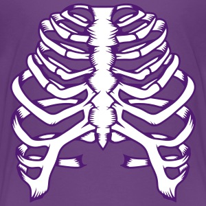A skeleton of a human thorax Shirts - Teenage Premium T-Shirt