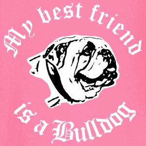 best friend english bulldog Langarmshirts - Baby Langarmshirt