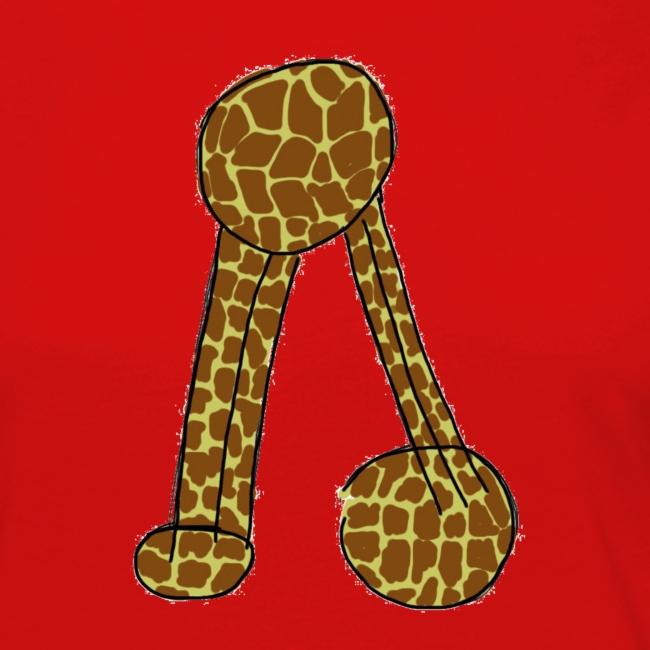 Camisola para senhora com não se aguenta em padrão de girafa