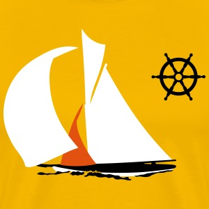 sailboat T-shirts - Herre premium T-shirt