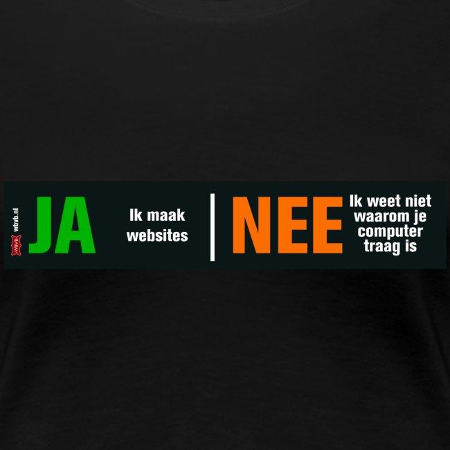 Ja, ik maak websites (damesshirt)