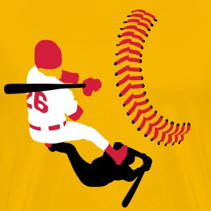 baseball player T-shirts - Herre premium T-shirt