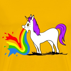 Unicorn - Rainbow T-shirts - Herre premium T-shirt