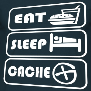 eat sleep cache - Männer T-Shirt