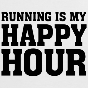 Running Is My Happy Hour Magliette - Maglietta Contrast da donna