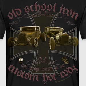 Oldschool iron, custom american Hot Rod, Rat Rod T-Shirts - Männer T-Shirt