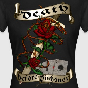 Death before dishonor rose barb wire tattoo style  T-Shirts - Frauen T-Shirt