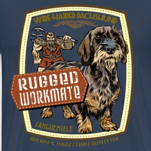 dachshund_rugged_workmate T-shirts - Mannen Premium T-shirt