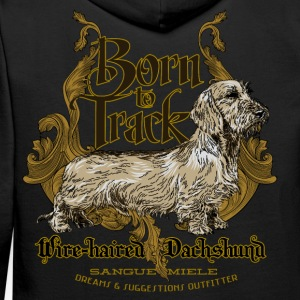 dachshund_born_to_track Hoodies & Sweatshirts - Men's Premium Hoodie