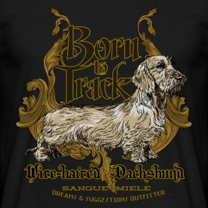 dachshund_born_to_track T-shirts - Mannen T-shirt