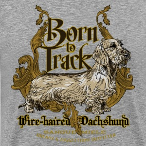 dachshund_born_to_track T-Shirts - Men's Premium T-Shirt