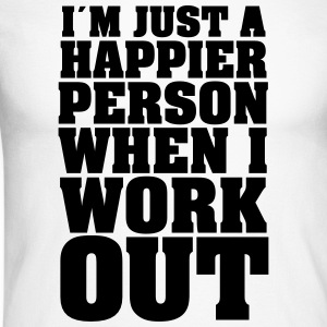 I´m Just A Happier Person When I Work Maglie a manica lunga - Maglia da baseball a manica lunga da uomo