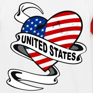 United States Heart Shirts - Kids' Baseball T-Shirt