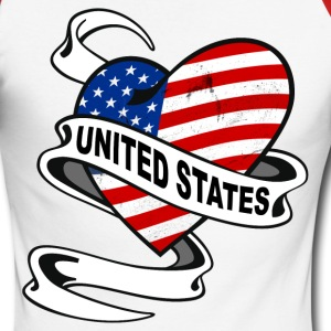 United States Heart Long sleeve shirts - Men's Long Sleeve Baseball T-Shirt
