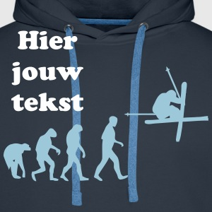 ski evolution design Sweaters - Mannen Premium hoodie