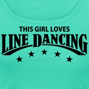 THIS GIRL LOVES LINE DANCING T-Shirts - Frauen T-Shirt mit U-Ausschnitt
