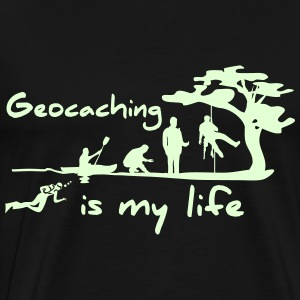 Geocaching is my life - Männer Premium T-Shirt