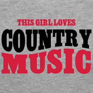 THIS GIRL LOVES COUNTRY MUSIC Langarmshirts - Frauen Premium Langarmshirt