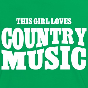 THIS GIRL LOVES COUNTRY MUSIC T-Shirts - Frauen Kontrast-T-Shirt
