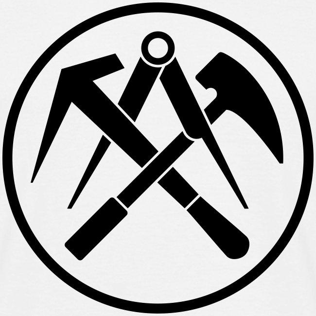 Dachdecker zunftzeichen  Work and Play Shirts   T-Shirt Zunftzeichen Dachdecker pos. - Männer ...