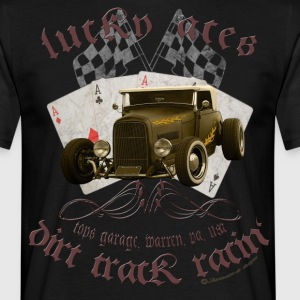 lucky aces dirt track racing hot rod retro T-Shirts - Männer T-Shirt