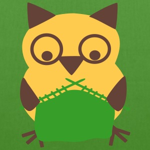 owl knitting Bags & backpacks - EarthPositive Tote Bag