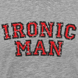 IRONIC MAN (Used Look) Rot T-Shirts - Men's Premium T-Shirt