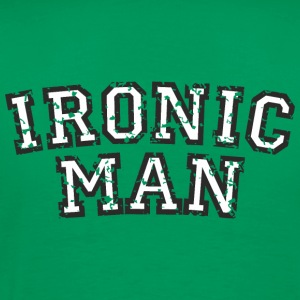 IRONIC MAN (Used Look) Weiß T-Shirts - Men's Premium T-Shirt