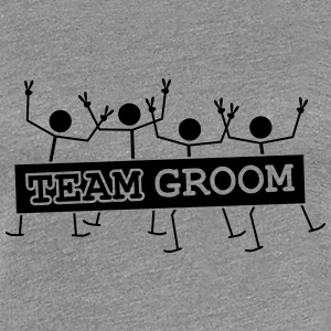 Team Groom Party Crew T-shirts - Premium-T-shirt dam