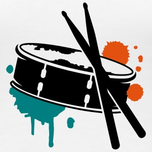 A drum and sticks as a graffiti T-Shirts - Women's Premium T-Shirt