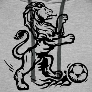 football lion champion but ballon  Sweat-shirts - Sweat-shirt à capuche Premium pour hommes