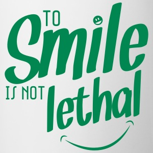 TO SMILE IS NOT LETHAL Bottles & Mugs - Contrasting Mug