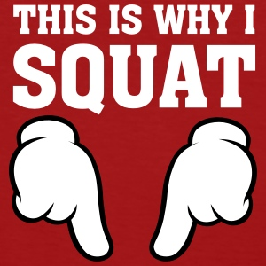 This Is Why I Squat (Comic Hands) T-Shirts - Women's Organic T-shirt