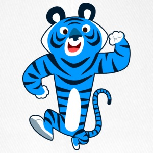 Big Blue Cartoon Tiger by Cheerful Madness!! Caps & Hats - Flexfit Baseball Cap
