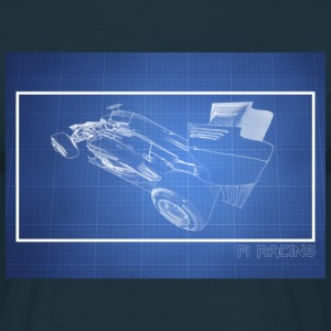 F1 Blueprint design 1 - Men's T-Shirt
